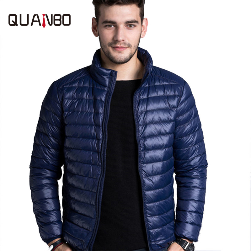 2018 autumn and winter new   down   jacket Men 's thin section of short hooded   coat   Young students with light   down   jacket