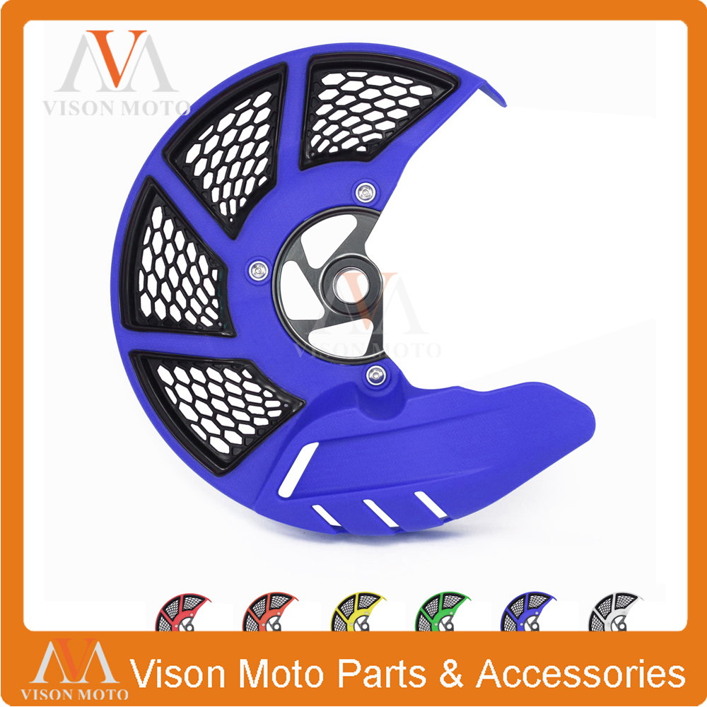 Front Brake Disc Rotor Guard Cover For YAMAHA YZ125X 2017 YZ250X 2016 17 WR250F WR450F WRF250 WRF450 2006 2007 2008 - 2016 keoghs motorcycle brake disc brake rotor floating 260mm 82mm diameter cnc for yamaha scooter bws cygnus front disc replace