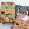Baby Burp Cloths 2pcs/lot Organic cotton gauze Muslin activity baby bib bandanas Baby Bibs soft breathable Newborns Towel scarf