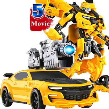 Nowy 20CM transformacja 5 film zabawki chłopiec Anime figurka plastikowy ABS samochód Robot zbiornik Model samolotu dzieci zabawki na prezenty dla dzieci tanie i dobre opinie IACCES CN (pochodzenie) BOYS 18 cm 17-20CM Remastered version 6 lat Dorośli 12-15 lat 5-7 lat 3 lat 8-11 lat Urządzeń peryferyjnych