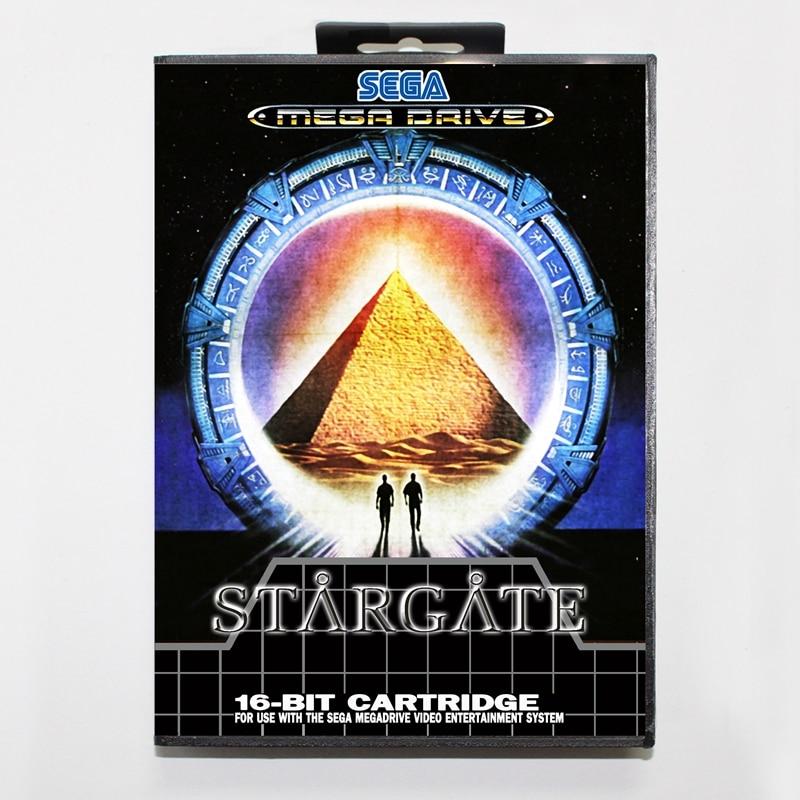 Sega MD games card - Star Gate 4 with box for Sega MegaDrive Video Game Console 16 bit MD card
