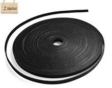 2 meter/Lot GT2-6mmopen timing belt width 6mm 3d printer parts For Anet 3D Printer DIY