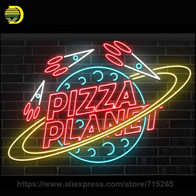 Aliexpress.com : Buy Custom Neon Sign PIZZA PLANET Neon ...