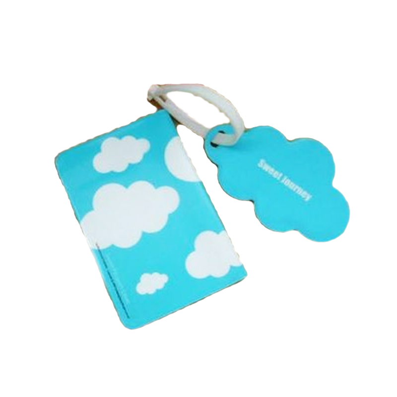 Silicone Gift Cute Love//Cloud Passport Holder Cover Luggage Tag Travel