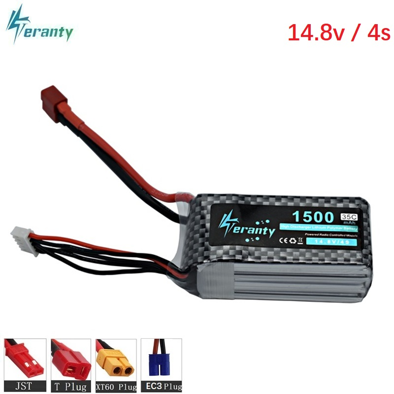 High Power <font><b>4S</b></font> 14.8v <font><b>1500mAh</b></font> 35C <font><b>LiPo</b></font> Battery T/XT60/JST/EC3 Plug 14.8 v Rechargeable <font><b>Lipo</b></font> Battery For RC Car Airplane Helicopter image