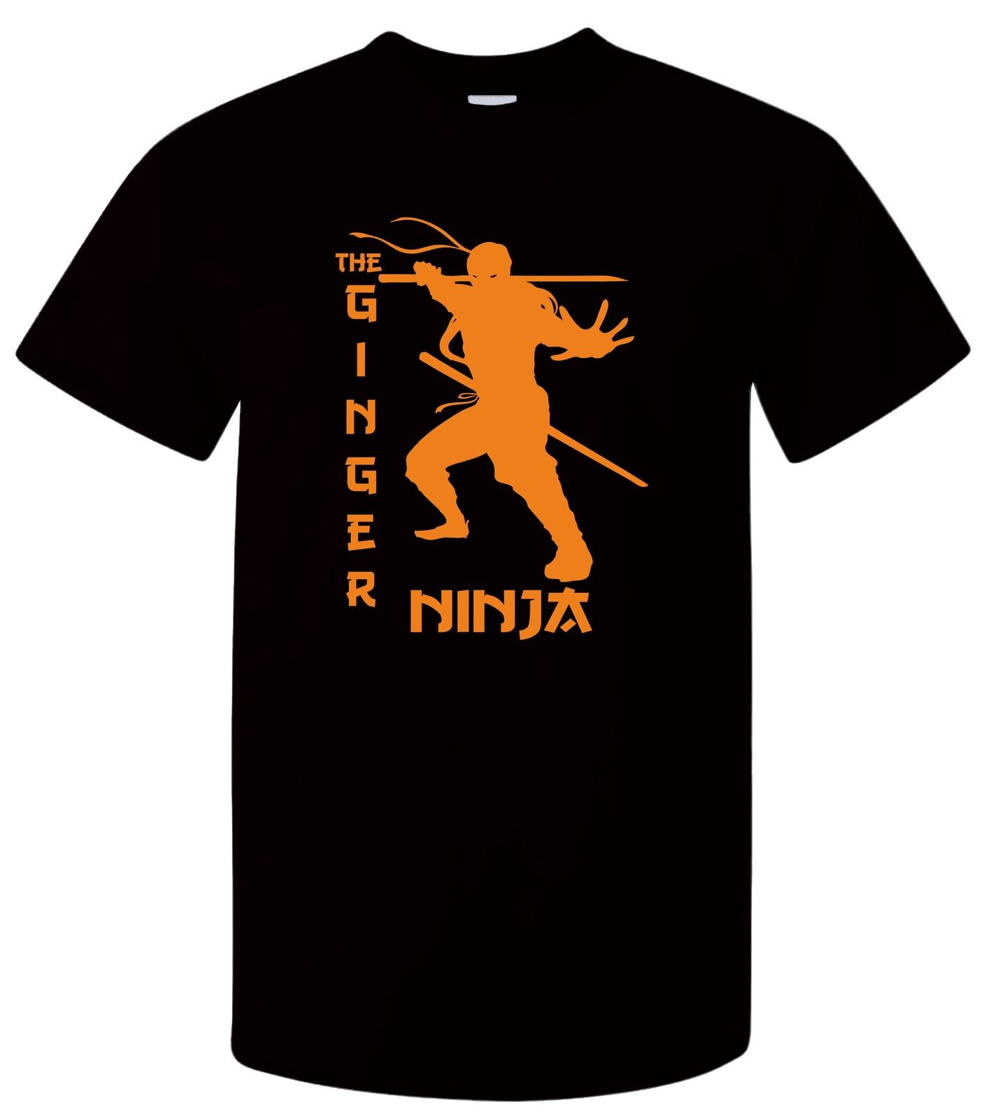 Vintage Tee Shirts Ginger Ninja- Funnykung Fu Hair Martialarts Joke Cool Stealth Design T Shirt Hipster Tops Short Sleeve Tees