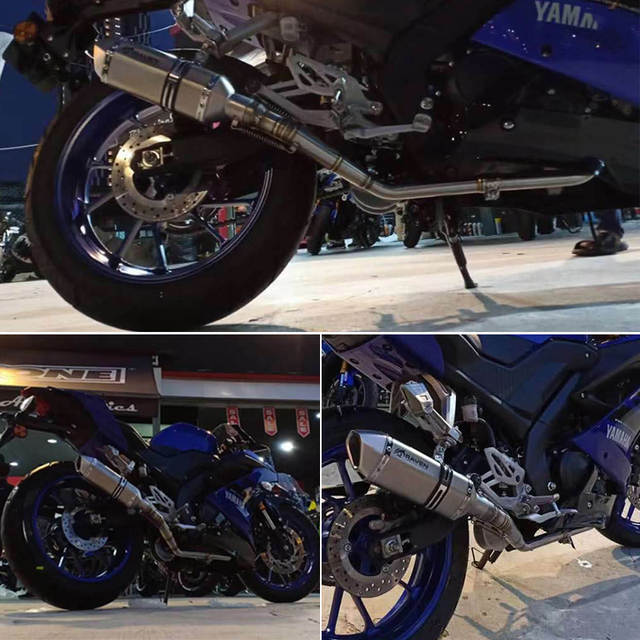 2018 YZF-R15 V3 Motorcycle 304 Stainess Steel Exhaust Muffler Middle Link  Pipe Tube Modified For Yamaha R15 V3 0 2018