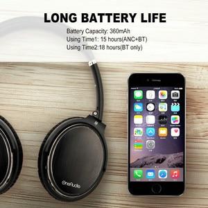 Image 2 - Oneodio aktywna redukcja szumów bezprzewodowe słuchawki z mikrofonem Bluetooth apt x krótki czas oczekiwania zestaw słuchawkowy do telefonu ANC podróż