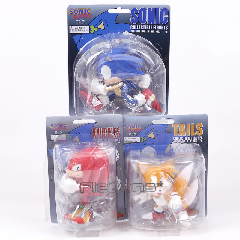 Sonic The Hedgehog Knuckles the Echidna Tails PVC Figure Collectible Model Toy 10~13cm