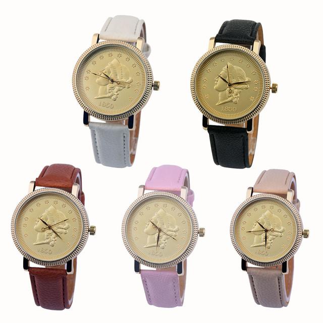 Duobla Retro coin Design Fashion Alloy Dial Women Watches Luxury Leather Ladies Watch Dress Clock relogio feminino 2019 30Q
