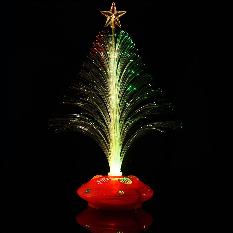 New LED Colorful Changing Mini Christmas Tree Decoration Table Party Charm Desk Decorations Gift for Home decor #4o26#f (17)