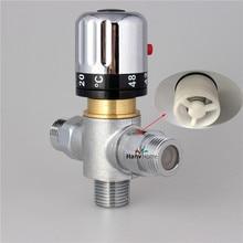 3 way Brass Thermostatic Mixing Valve Solar Water Heater Valve Adjust Temperature Control Valve Thermostatic mixer Valve