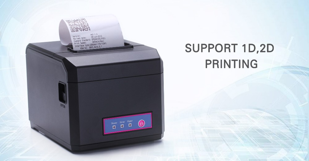 ФОТО 2016 Newest  supermarket 80/58mm POS terminal line printing  with USB+RS32 POS Printer EH80300