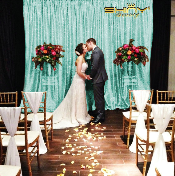 8x8ft Sequin Backdrop Photography, Mint Green Sequin Backdrop,Shimmer Fabric Photo Props Background Draps Curtains-r