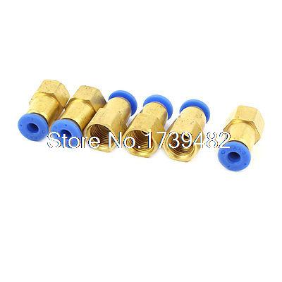 Air Compressor 9mm to 4mm Pneumatic Quick Fitting Coupler Adapter 6Pcs 10pcs lot 4mm to 1 4 bspt elbow male air pneumatic quick connect jointer connectors fitting pl4 02
