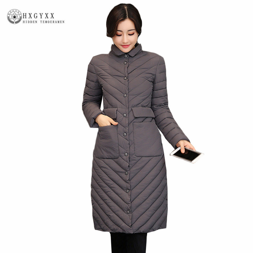 Winter Long Puffer Jacket Women Winter Quilted Coat 2019 New Slim Plus Size Warm Military   Parka   Female Down Cotton Outerwear O4