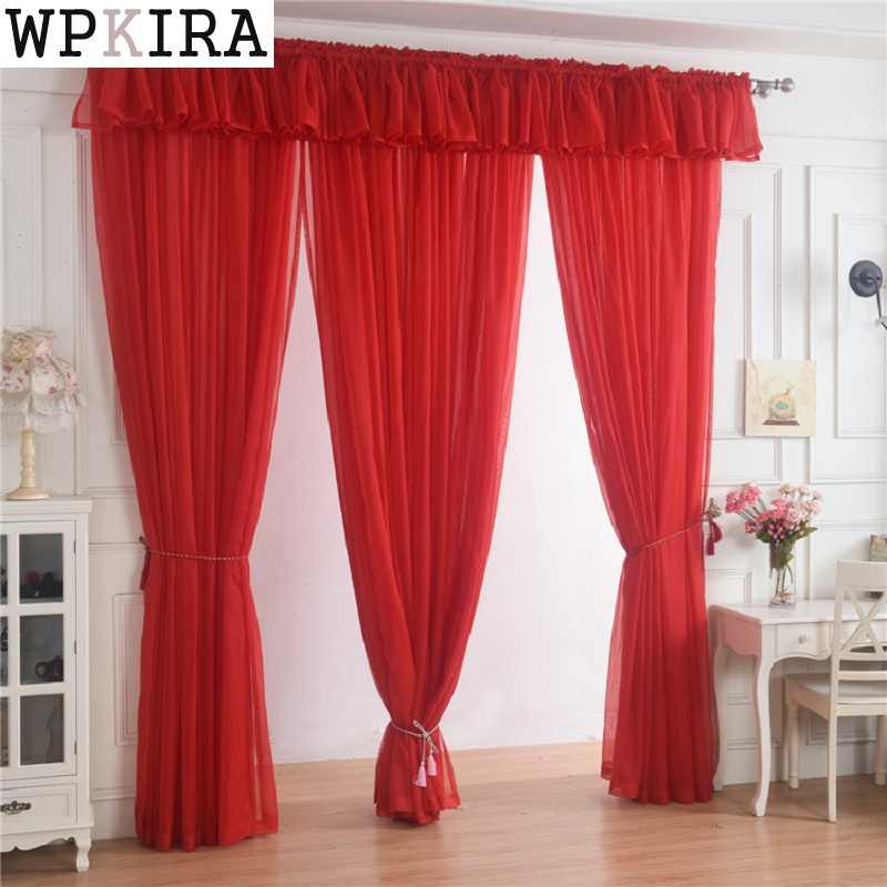 280cm high special custom size light yellow solid window screening door curtains drape panel sheer tulle for living Room 184&30