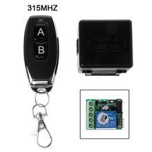 Fernbedienung Wireless Schalter 12 V 315 MHz 1CH Relais Empfänger Modul RF Sender Jan 12