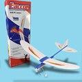 Frete grátis falcon gilder maximun 2 minutos de vôo elétrico alimentado diy assembléia avião modelo de avião modelo de puzzle toy presente das crianças