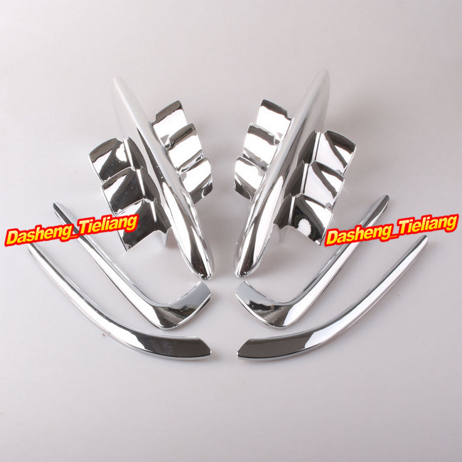 Fairings Premier Shark Gills For Honda Goldwing GL1800 2001 2002 2003 2004 2005 2006 2007 2008 2009 2010 2011 Chrome swing arm pivot frame trim covers for honda vtx1300 2003 2004 2005 2006 2007 2008 2009 chrome