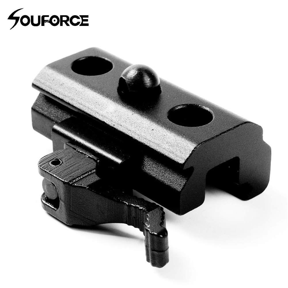 20mm Mount QD Quick Detach Release Mount Bipod Sling Adapter Swivel Picatinny Adapter 20mm Weaver Rail for Rifle quick release aluminum alloy gun mount clips for 20mm rail black 2 pcs