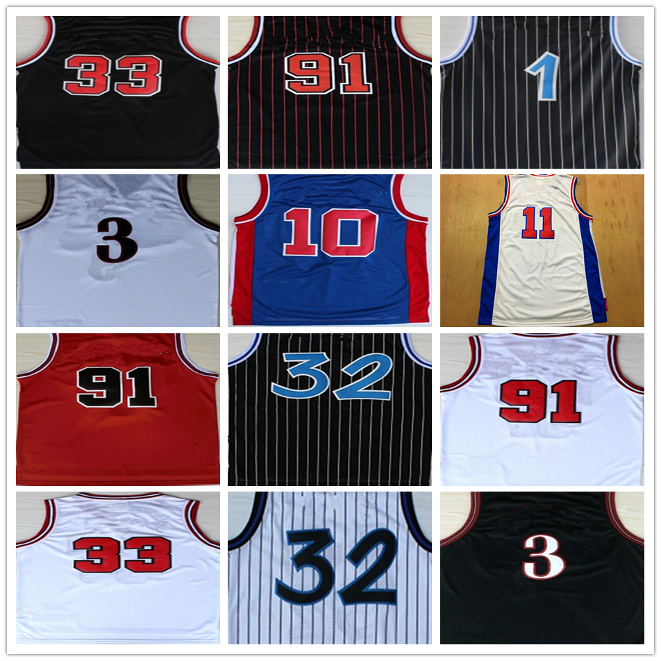 sale retailer 8617a 55b28 Mens Dennis Rodman Allen Iverson Shaquille O'Neal Isiah Thomas Peny  Hardaway Scottie Pippen ...