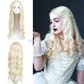 Горячие Акции Синтетические Парики Алиса в Стране Чудес Королева Блондинка Аниме Косплей парик природный дешево вьющиеся волосы Курчавые Волнистые Длинные 60 см