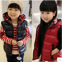 Free Shipping Children's clothing NEW style autumn and winter child waistcoat children vest baby Boys&girls Outwear&coats