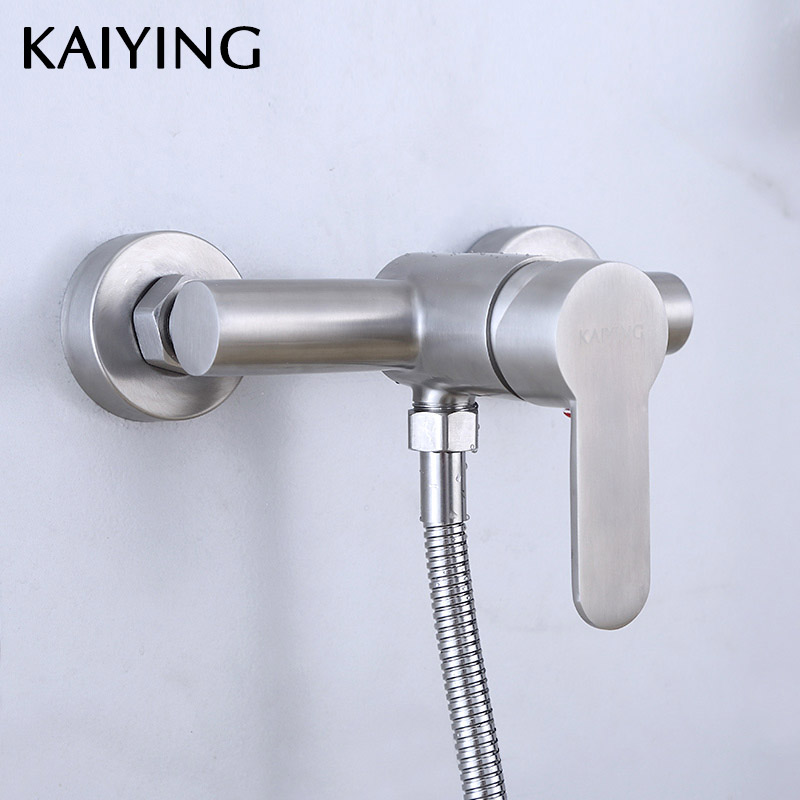 KAIYING 304 Stainless Steel Bathroom Shower Faucet Wall