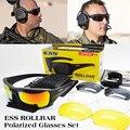 Ess arco polarizadas táctico gafas de sol tr90 protección uv gafas militares ejército google gafas a prueba de balas, 4 lente de 2 colores