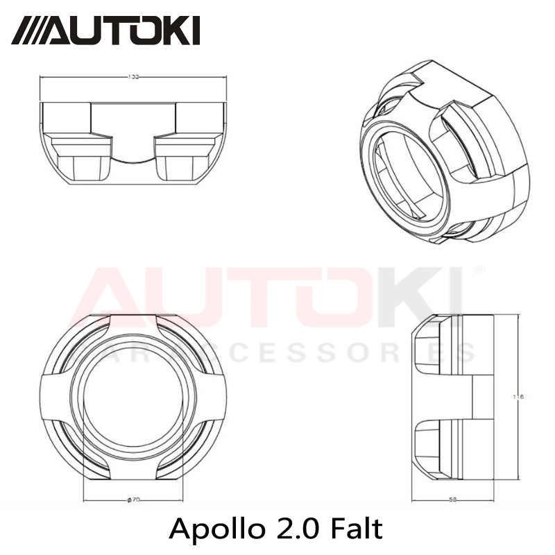 3 polegadas escondeu lente do projetor xenon bi casos Capa Protetora resistente de alta temperatura Apollo 2.0 Máscara Plana para projetor