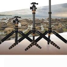 цены DHL  Professional Carbon Fiber Tripod & Monopod Q666C Pro For DSLR Camera / Portable Traveling Tripod Max load to 15kg