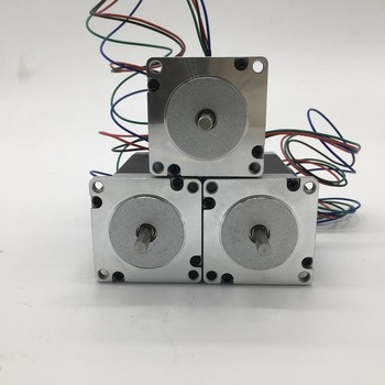 3PCS Stepper Motor Nema23 57mm 3A 2.2Nm 320Oz-in 8mm Shaft 2ph 4 Wires High Torque for CNC Router Lathe
