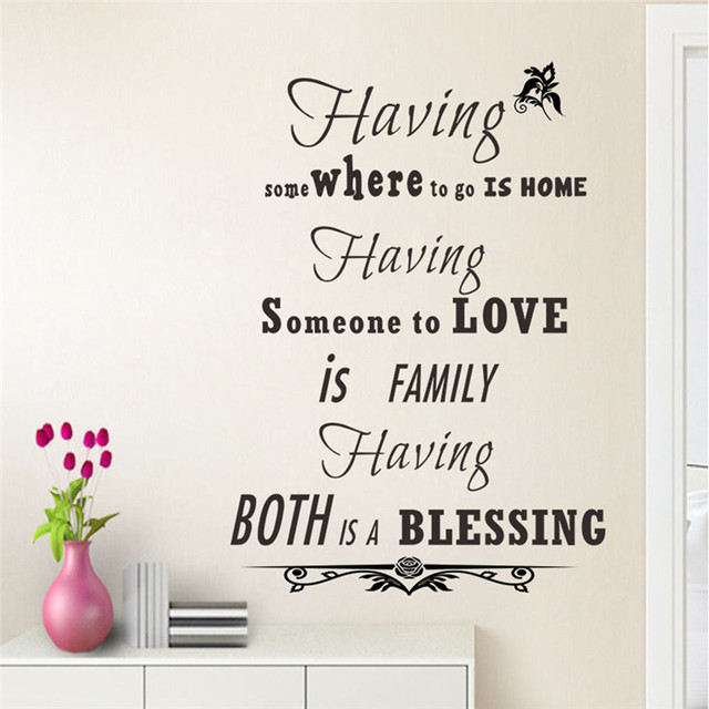 Aliexpress.com : Buy PVC Text Wall Sticker Having ...