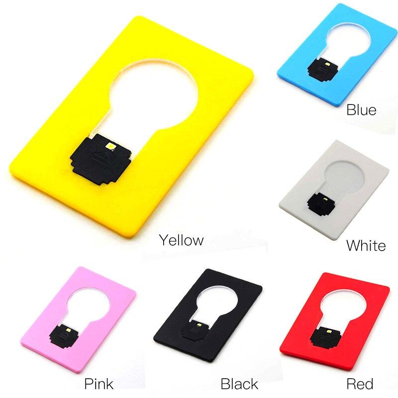 Led sensor light Light bulb Lamp LED Card Pocket Wallet Size New Design nightlight childrens led night light