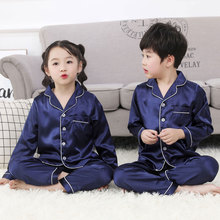 Children Sleepwear Kids Pyjama Set Boys Pajamas For Girls Set 2019 Spring Nightgown Sleepwear Short Sleeves Pajamas Long Sleeves недорого