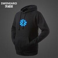 SWENEARO Luminous Swag Hoodies Men Brand Male Long Sleeve Sweatshirt Mens Fleece Slim Tracksuit Casual Jacket