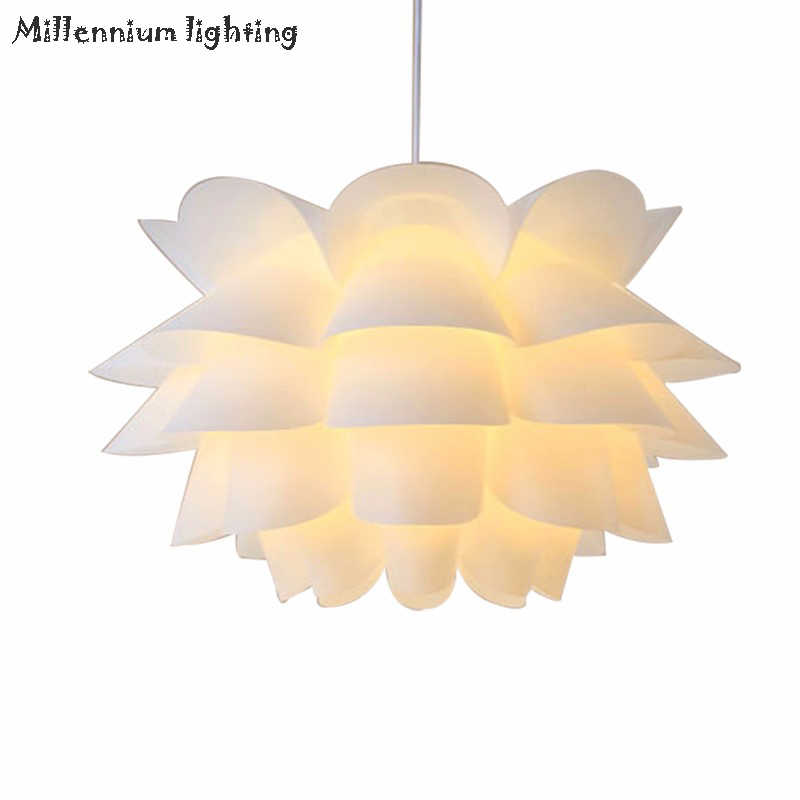 DIY Living Room Dining Chandelier Ceiling E27 Lotus Light Modern Minimalist Nordic Creative Indoor Home Fixtures