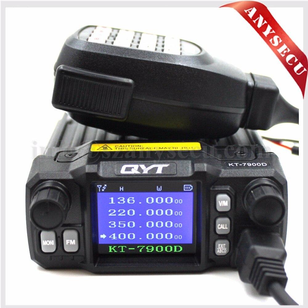 Quad Band Mobiele radio QYT KT-7900D Quad Display 144/220/350 / 440MHZ 25 Watt Transceiver Groot LCD-scherm KT7900D Walkie-talkie