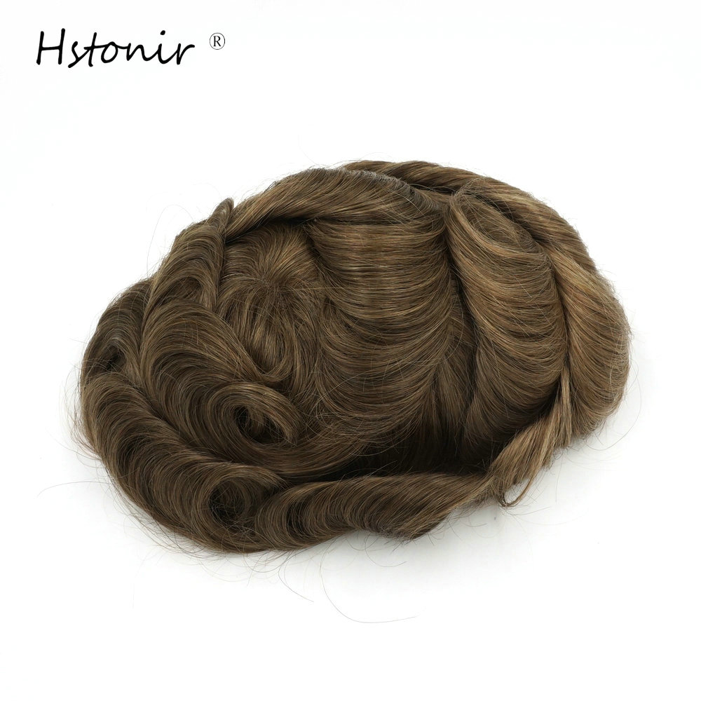 Hstonir Undetectable Swiss Lace Natural Remy Hair Natural Looking Toupee Mens Hair Piece Natural Hairline H051