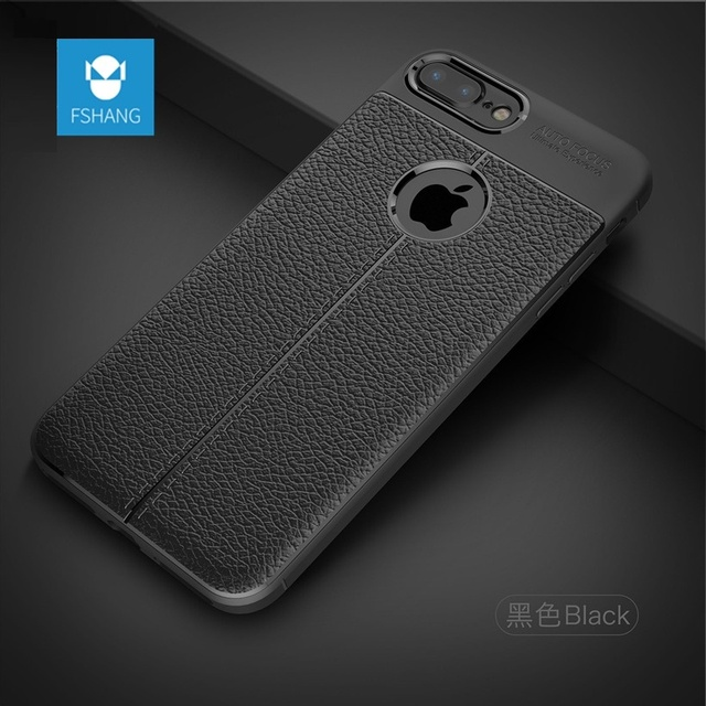 the latest fc618 80482 US $7.24 |FSHANG Luxury Case For Apple iPhone 8 Cases Soft TPU Silicone  Slim Leather Texture Shockproof Cover for iphone 8 plus Coque capa-in  Fitted ...