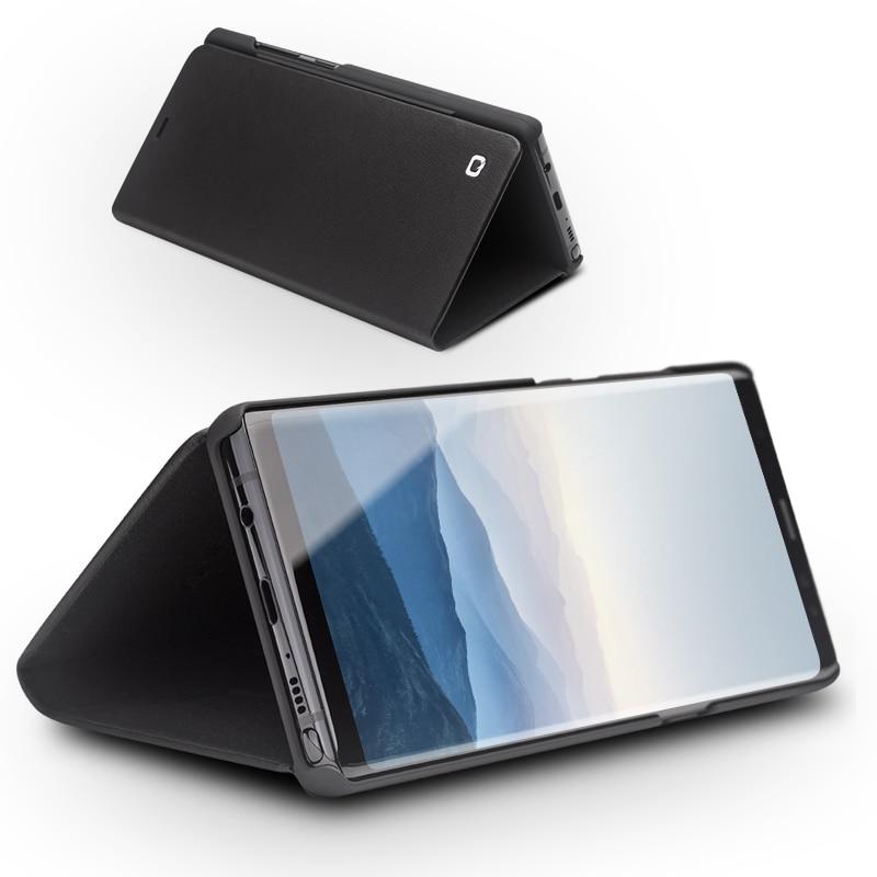 QIALINO De Luxe Véritable Étui En Cuir pour Samsung Galaxy Note 8 De Mode Ultra-Mince Flip Stents Couverture Sac pour Samsung note8 6.3-pouces