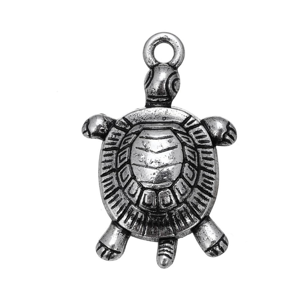 ᗚMi forma 40 piezas animales mar tortuga encanto para collares ...