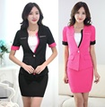 Formal Elegant Summer Women Uniforms Style Office Ladies Blazers Professional Business Work Suits Jackets And Skirt Set