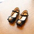 Принцесса Девушки Shoes Дети, Растущие Кроссовки 2017 Новая Коллекция Весна Твердые Мода Из Бисера Девушки Танцуют Shoes Kids Shoes Размер 26-30