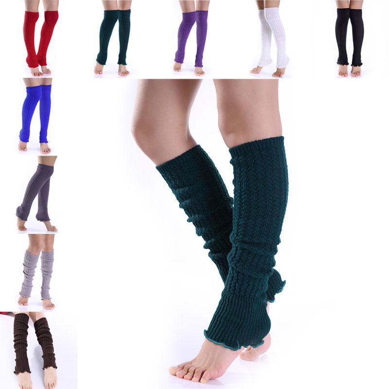 1 Paar Fashion Beenwarmers Vrouw Lange Kousen Populaire Hennep Bloemen Breien Stap Voet Winter Warm Stocking 88 Xrq88 Hoog Gepolijst