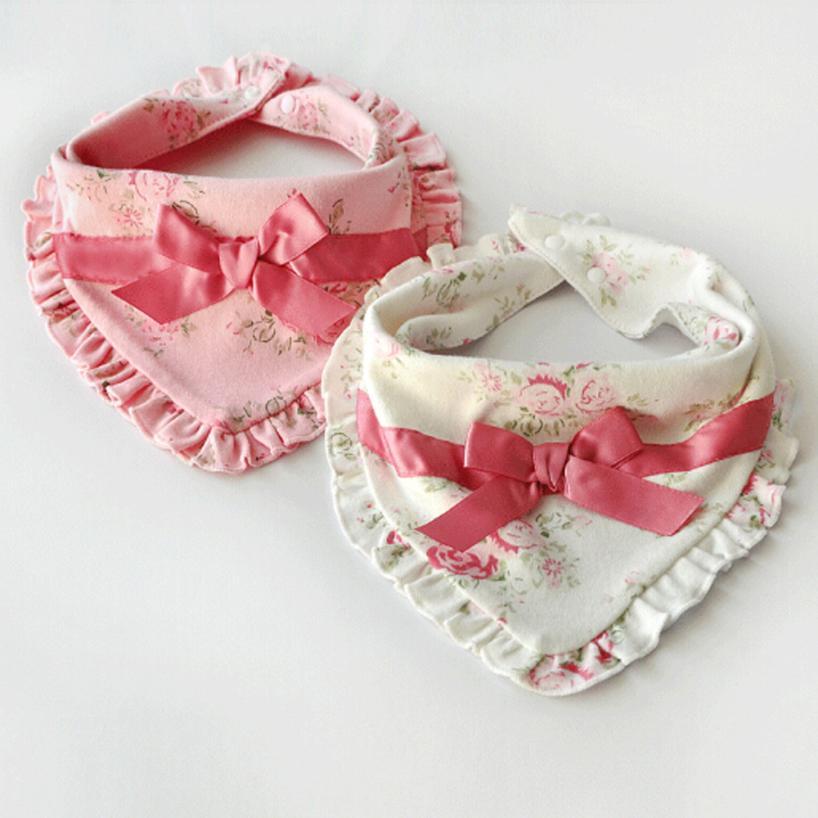 Baby Bib Baby Stuff Baby Newborn Infants Kids Toddler Floral Print Soft Waterproof Bibs Saliva Towel 2018