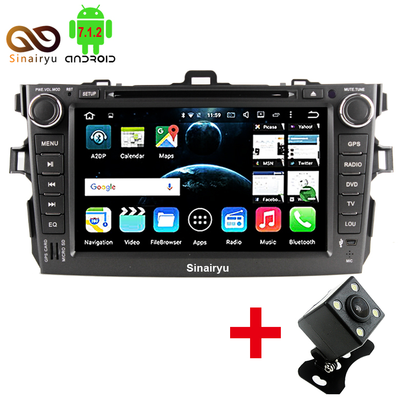 2 Din Android 7 1 font b Car b font DVD Player For Toyota Corolla 2007