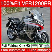 Injection For HONDA VFR1200RR VFR 1200 RR 10 11 12 13 111SH6 VFR 1200 VFR 1200RR VFR1200 Glossy grey 2010 2011 2012 2013 Fairing