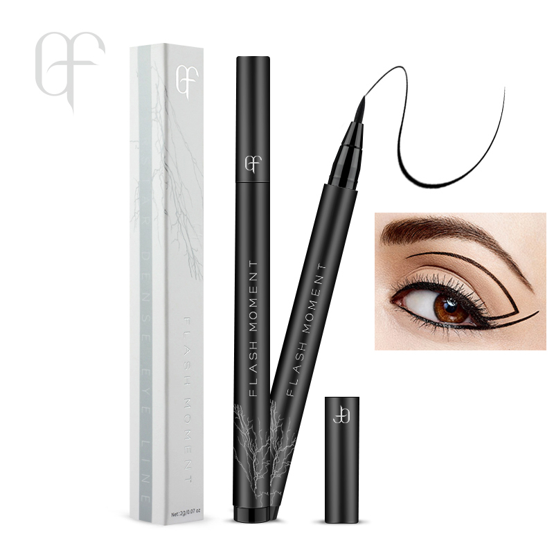 Black Eye Liner Pencil Maquiagem Profissional Delineador Waterproof Eye Cosmetics Long Lasting Liquid Eyeliner Pen Makeup Tool